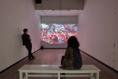 The Atelier installation, 2018, Protocinema at Proyecto Amil, Lima with support of SAHA (The photo by Juan Pablo Murrugarra)